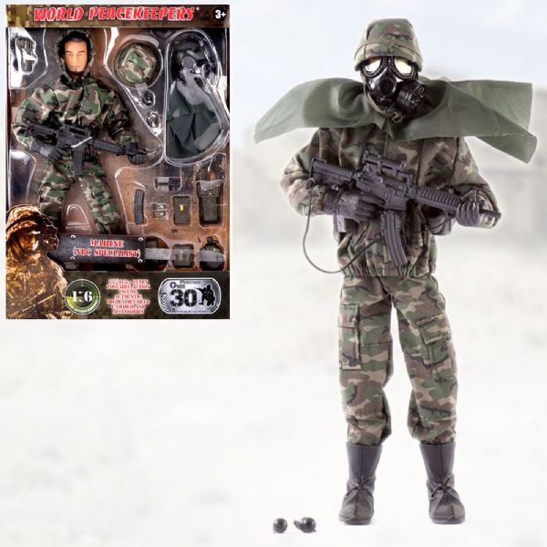 World Peacekeepers Marine NBC Specialist 12in Poseable Army Action Toy Figure